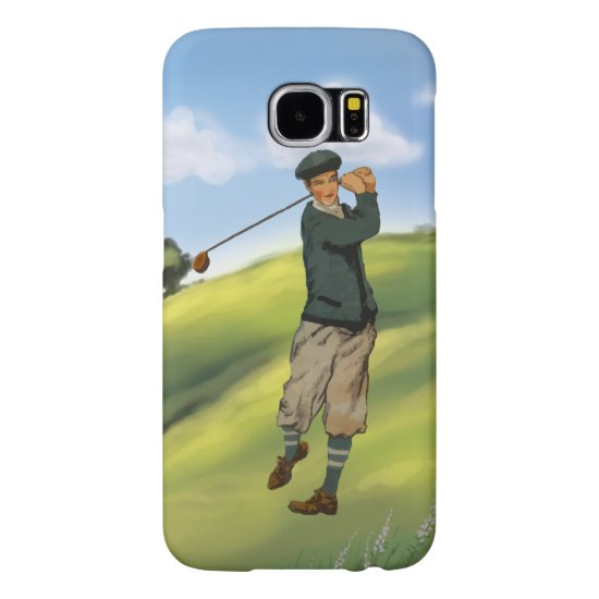 Vintage look Golfer Golf Samsung Galaxy S6 Case