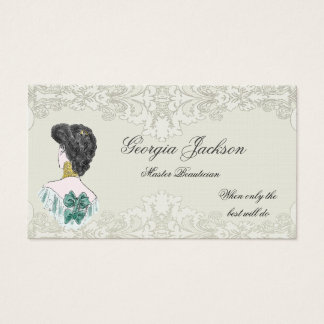 Vintage Look Hair Salon Business Card