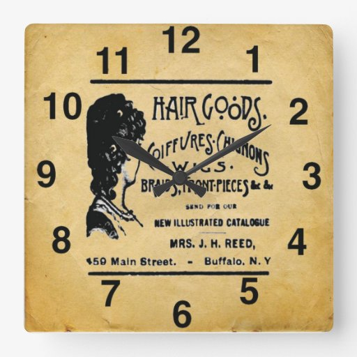 vintage look hair salon wall clock zazzle. Black Bedroom Furniture Sets. Home Design Ideas