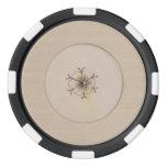 Vintage Look Ivory Blossom Set Of Poker Chips