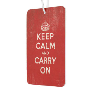 Vintage-Look Keep Calm and Carry On Car Air Freshener