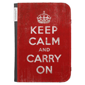 Vintage-Look Keep Calm and Carry On Case For The Kindle