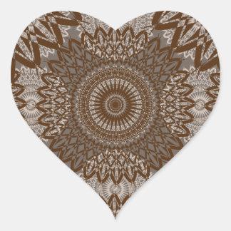Vintage Look Lace - Caramel Heart Sticker