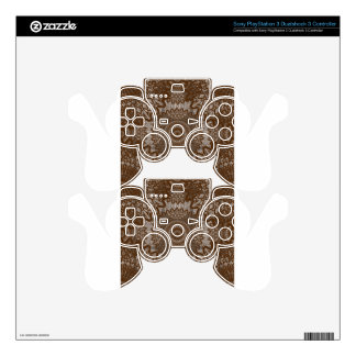 Vintage Look Lace - Caramel PS3 Controller Skin