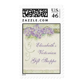 Vintage Look Lilac Hydrangea - Business Postage stamp