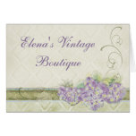 Vintage Look Lilac Hydrangea, Correspondence Note Greeting Cards