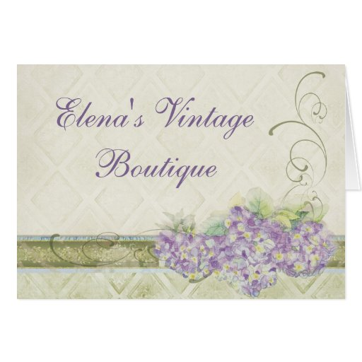 Vintage Look Lilac Hydrangea, Correspondence Note Stationery Note Card