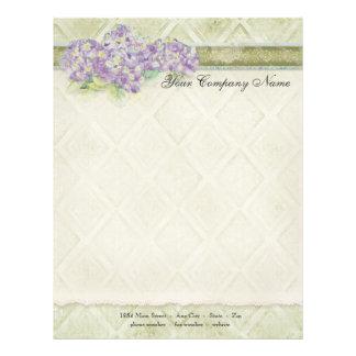Vintage Look Lilac Hydrangea - Stationery Letterhead