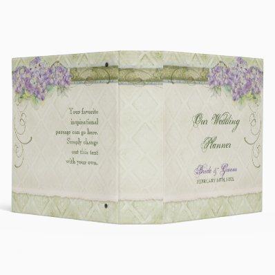 Vintage Look Lilac Hydrangea - Wedding Planner 3 Ring Binder