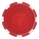Vintage Look Lucky 7 Poker Chips
