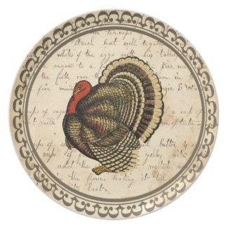 Vintage-Look Melamine Thanksgiving Plate plate
