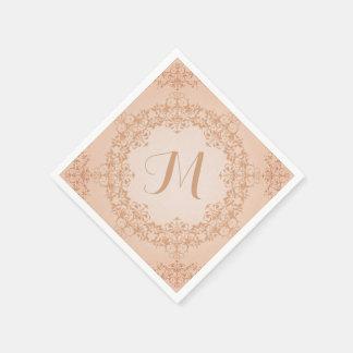 Vintage Look Monogram Napkins