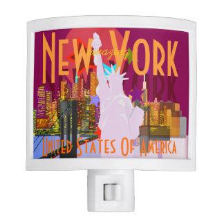 Vintage look New York Travel Night Light
