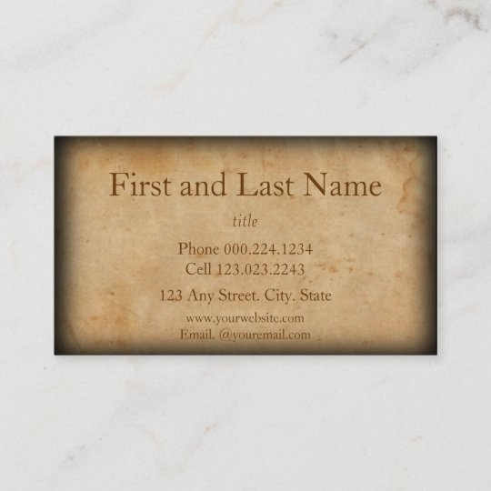 Vintage look old and worn business card zazzle vintage look old and worn business card reheart Gallery