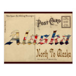 Vintage Look Old Postcard With Alaska