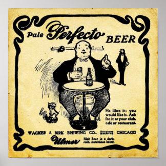 Vintage Look Pale Perfecto Beer Print