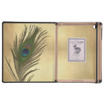 Vintage Look Peacock Feathers Elegant Cover For iPad