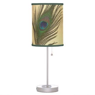 Vintage Look Peacock Feathers Elegant Desk Lamp