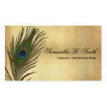 Vintage Look Peacock Feathers Elegant Double-Sided Standard Business Cards (Pack Of 100)
