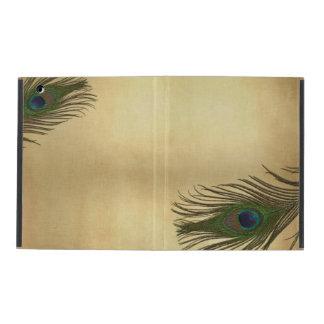 Vintage Look Peacock Feathers Elegant iPad Case