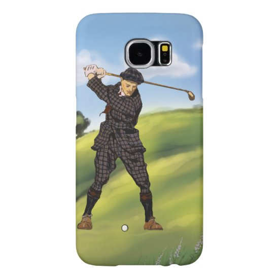Vintage look Period Golfer Golf Samsung Galaxy S6 Case