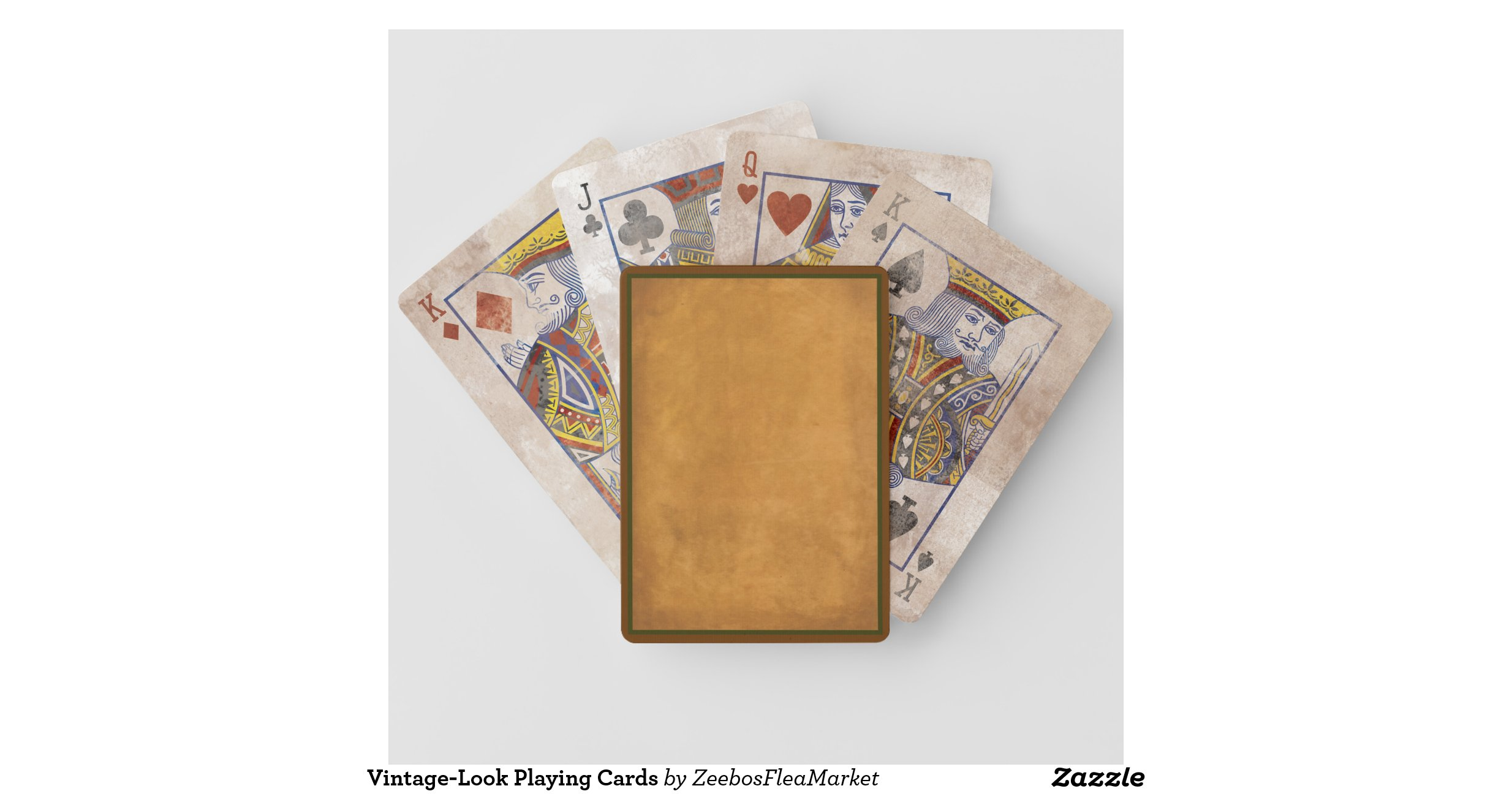 Vintage look playing cards for Ka che vintage look