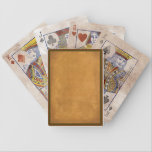 "Vintage-Look Playing Cards<br><div class=""desc"">Get that vintage look with a tea-stained parchment background with a muted red and green border.</div>"