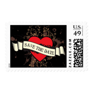 Vintage Look Rock & Roll Music Themed Wedding Postage