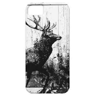 Vintage look Stag in Black and White, Deer Animal iPhone SE/5/5s Case