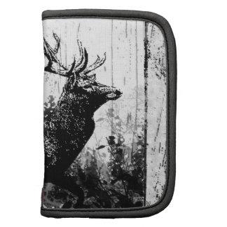Vintage look Stag in Black and White Deer Animal Organizer