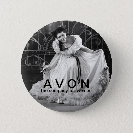 Vintage looking AVON beauty button