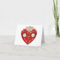 Vintage Looking For Love Kitten Valentine Card