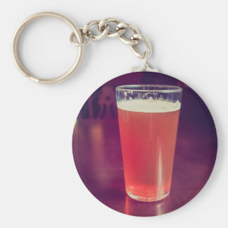 Vintage looking pint of English bitter beer Keychains