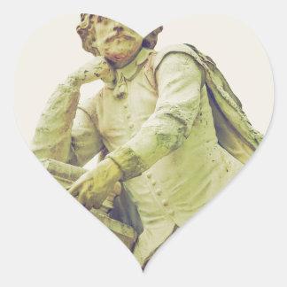 Vintage looking Statue of William Shakespeare Heart Sticker