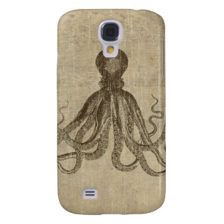Vintage Lord Bodner Octopus Triptych Galaxy S4 Cover
