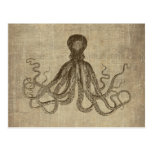 Vintage Lord Bodner Octopus Triptych Post Card