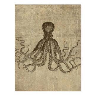 Vintage Lord Bodner Octopus Triptych Postcard
