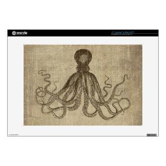 """Vintage Lord Bodner Octopus Triptych Skin For 15"""" Laptop"""