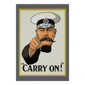 Vintage Lord Kitchener Carry On Poster