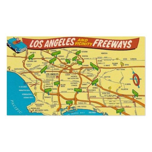 Vintage Los Angeles Business Card Templates