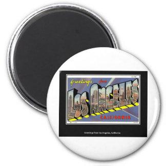 Vintage Los Angeles California Vintage 2 Inch Round Magnet