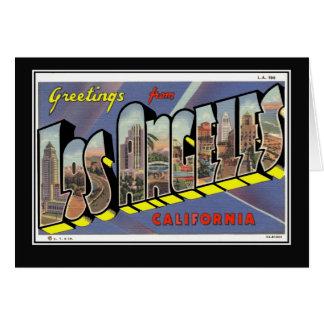 Vintage Los Angeles California Vintage Card