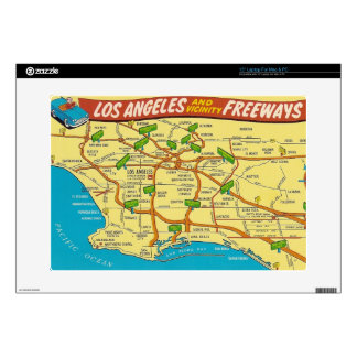 "Vintage Los Angeles Decal For 15"" Laptop"
