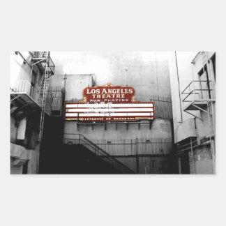 Vintage Los Angeles Theatre Sign Sticker