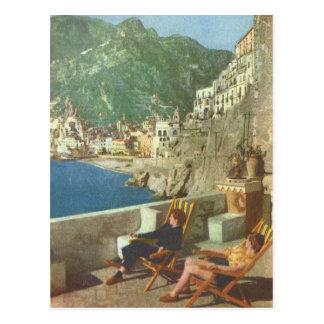 Vintage los años 30 de la costa de Italia, Amalfi Postales