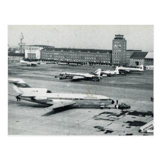 Vintage los años 50 del aeropuerto de Alemania, Mu Postal