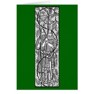 Vintage - los dos caballeros - medieval tarjeta de felicitación
