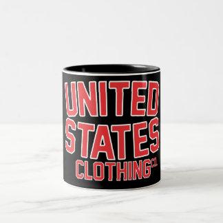Vintage los E.E.U.U. Taza De Dos Tonos