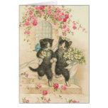 Vintage - los gatos del boda felicitación