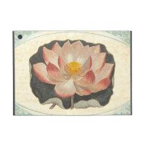 Vintage Lotus Damask Elegant Antique Botanical Case For iPad Mini